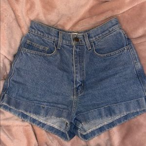 American Apparel High-Waist Shorts